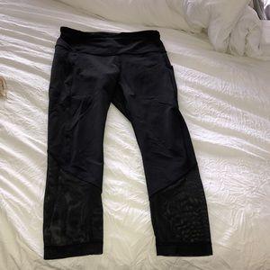 Black mesh lululemon pants